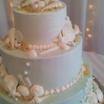 Sea Shell Wedding Cakes