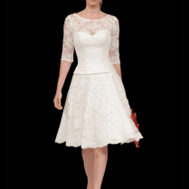 Short Casual Wedding Dresses For Mature Brides