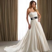 Short Wedding Dress With Black Sash