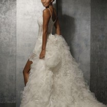 Short Wedding Dress With Detachable Train
