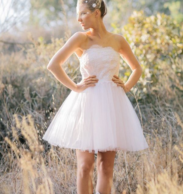 Short Wedding Dresses To Wear With Cowboy Boots