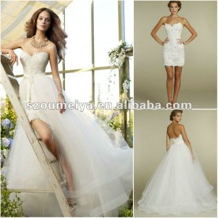 Short Wedding Dresses With Detachable Train Browse Pictures And