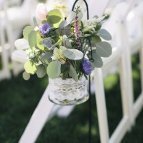 Silver Dollar Eucalyptus Purple Asters Pink Veronica Astilbe And