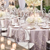 Silver Wedding Table Decorations