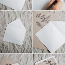 Simple Diy Rustic Wedding Invitation And Envelope Liners