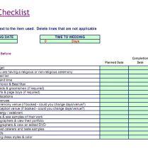 Simple Wedding Checklist