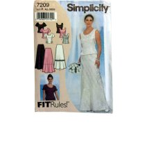 Simplicity 7209 Two Piece Wedding Dress Pattern By Upstairsattic