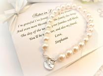 Sister Pearl Strand Bracelet, Sister In Law Bridesmaid Attendant