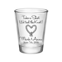 Take A Shot We Tied The Knot (style 3) Shot Glasses Wedding Favors