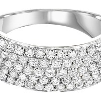 Thick Diamond Wedding Band