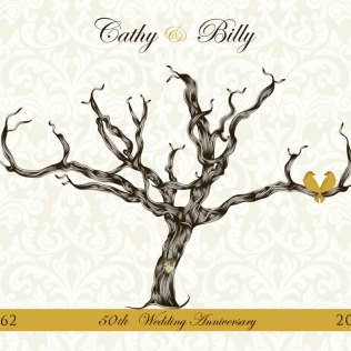 Trees, Damasks And 50th Wedding Anniversary Gift On Emasscraft Org