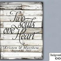 Ts, Two Souls One Heart, Wedding Sign, Handmade, Personalized