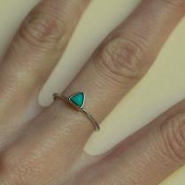 Turquoise Ring, Turquoise Wedding Ring, Trillion Ring, Triangle