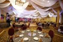 W Drapings Custom Event Draping, Chiffon Ceiling Treatments And