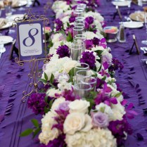 Wedding Purple And Green Centerpieces For Wedding