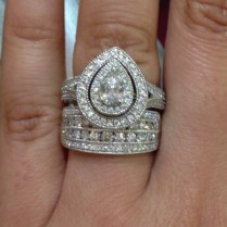 Wedding Band Shopping! Any Bees With A Wide Diamond Band Or 2