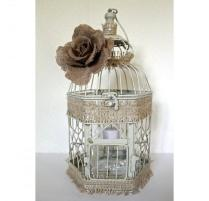 Wedding Birdcage Centerpiece Or Wishing Well Rustic Chic Vintage