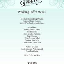 Wedding Buffet Menu Example, Wedding Catering, Oak Tree Restaurant