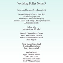 Wedding Buffet Menu, Wedding Reception Catering, Oak Tree Restaurant