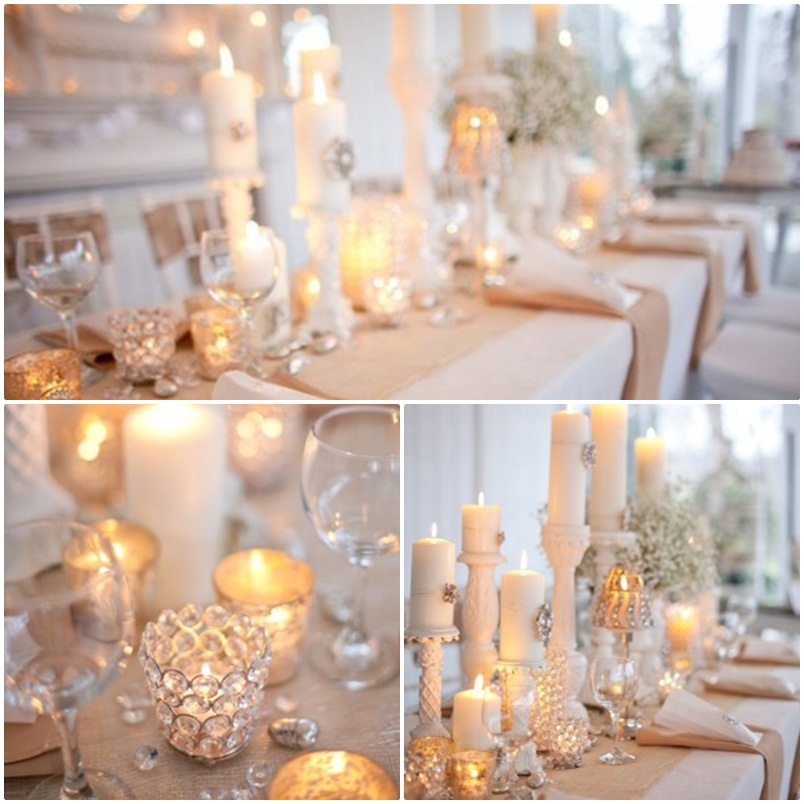 Candle Wedding Table Centerpieces