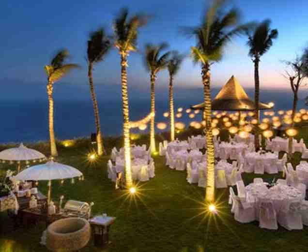 Wedding Decoration Ideas Night Outdoor Wedding Reception