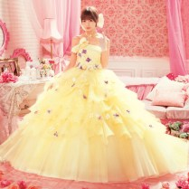 Wedding Dress Yellow And White