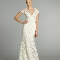 Wedding Dresses Vintage Lace Capped Sleeve