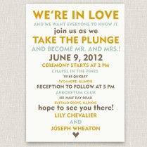 Wedding Invitation Wording Informal