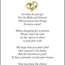 Wedding Money Poems X 50 Many Designs