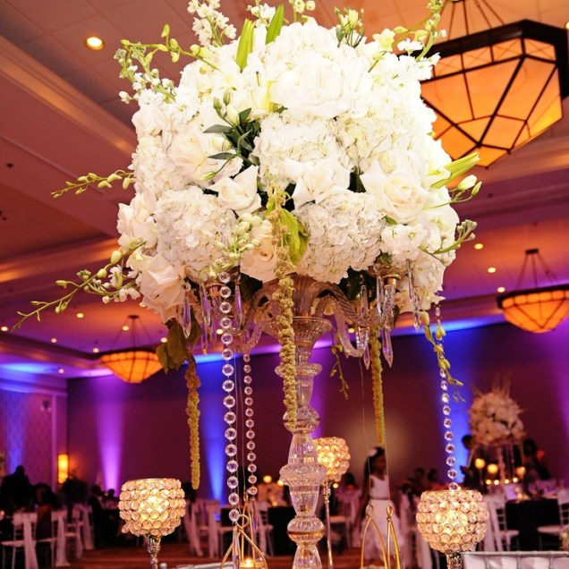 Wedding Reception Centerpieces Branches Tall Bling Wedding