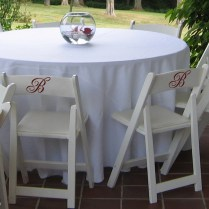 Wedding Reception Chair Monograms Wall Decal Sticker Graphic