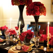 Wedding Reception Cool Black And Gold Wedding Centerpieces