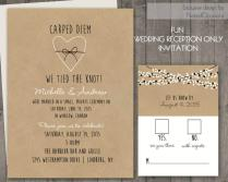 Wedding Reception Only Invitations On Kraft Paper Rustic Wedding