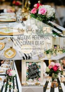Wedding Rehearsal Dinner Ideas