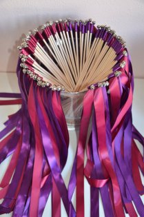 Wedding Ribbon Wands Send Off Set Of 75 By Bellabridecreations