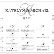 Wedding Seating Chart Table Assignments