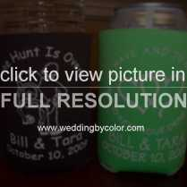 Wedding Tag Koozies