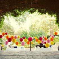 Whimsical Outdoor Wedding Reception Decor