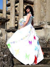 White And Rainbow Wedding Dresses