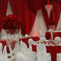 White Wedding Decorations, Red And White Weddings And Wedding