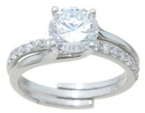 Wholesale 925 Sterling Silver Interlocking Wedding Ring Set
