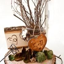 Wood Wedding Centerpieces