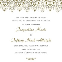 Wording Of Wedding Invitations