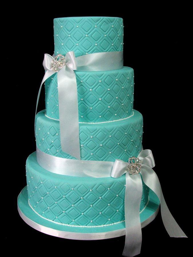 Tiffany Themed Wedding Cakes