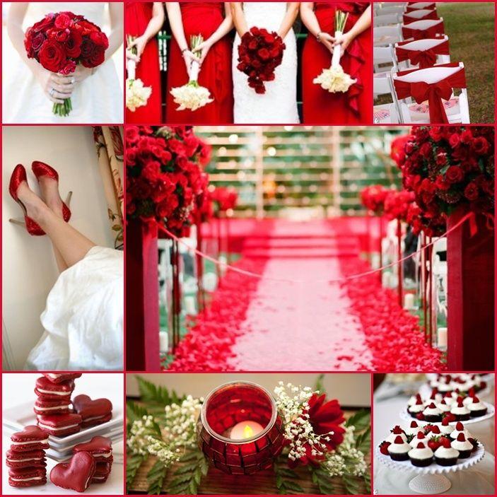 Red White Wedding Theme