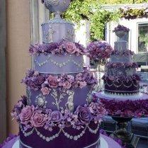 15 Purple Wedding Cakes Ideas