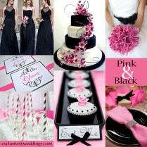 1990 By Venusshop On Etsy Hot Pink And Black Wedding Pink And