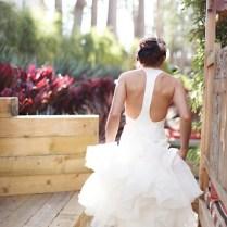 24 Unique Racerback Wedding Dresses That Make Our Hearts Race