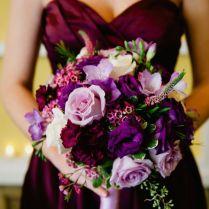 Wedding Bouquets In Purple