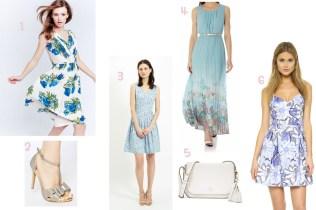 4 Blue Dresses For A Summer Wedding Guest